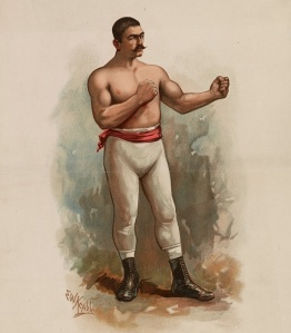 John L. Sullivan av E. W. Kemble 1861-1933 / Library of Congress