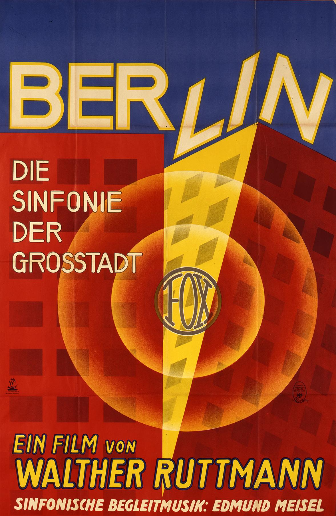 7. Berlin Symphony of a Metropolis film poster, 1927