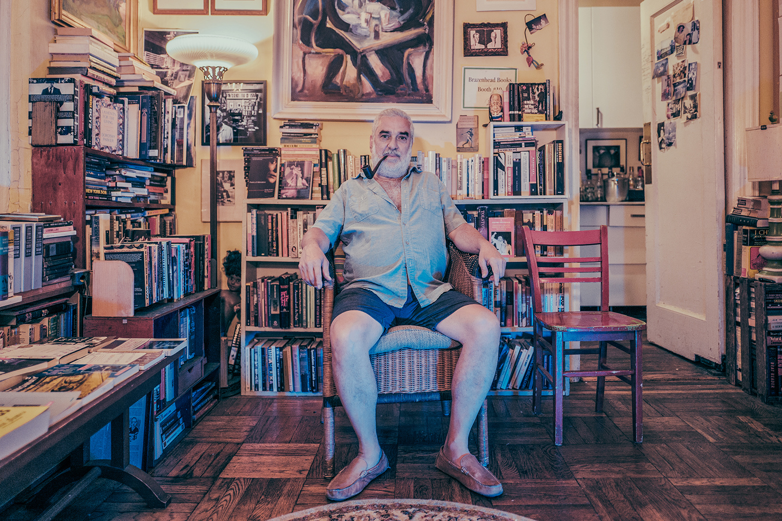Michael Seidenberg at Brazenhead Books, Yorkville, Manhattan, 2017.